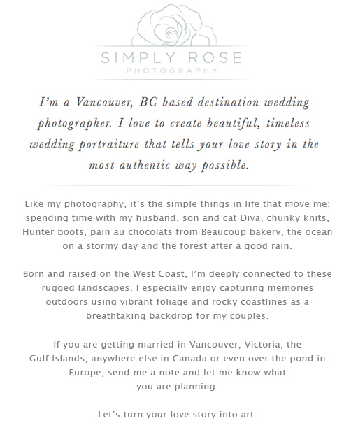Simply Rose Photography About Page
