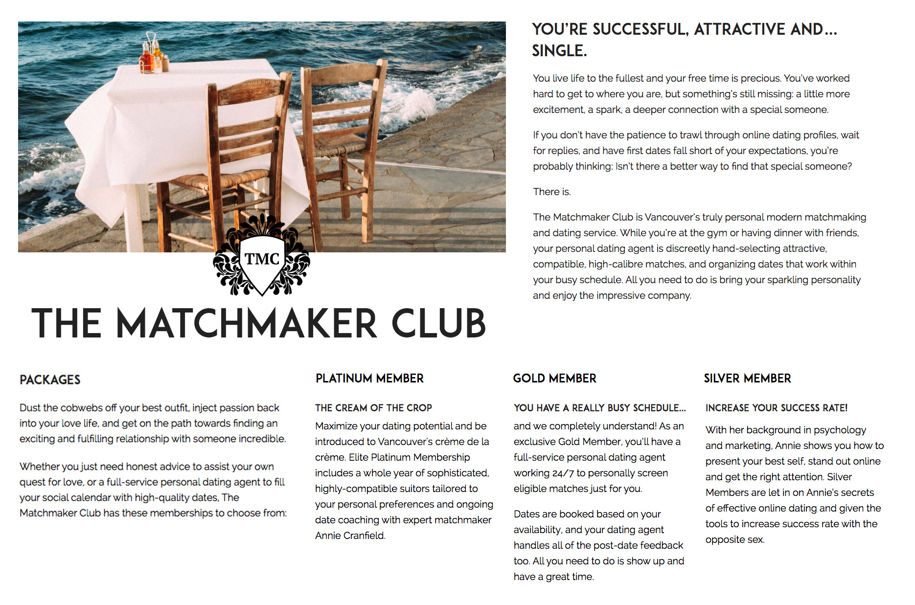 The Matchmaker Club Website